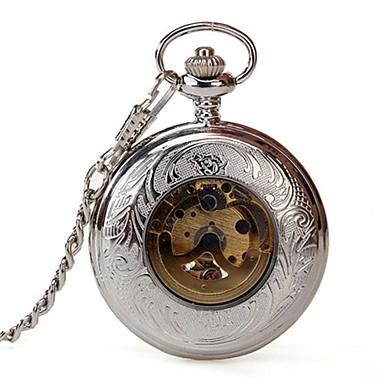 Bărbați Ceas de buzunar Mecanism automat Aliaj Bandă Argint