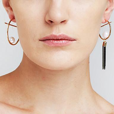 Pentru femei Imitație de Perle Personalizat Pandantiv Ciucure Nepotrivirea Modă Articole de ceramică Circle Shape Bijuterii