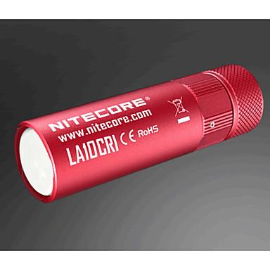 LA10CRI_CN LED Flashlights LED 85 lm طريقة استايل مصغر Dinmable Camping/Hiking/Caving السفر الخارج أسود أحمر أزرق