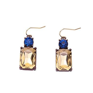 Pentru femei Hipoalergenic Diamant sintetic Cercei Picătură - Personalizat / Clasic / Hipoalergenic Galben Deschis Pătrat cercei Pentru