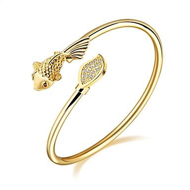 Pentru femei Brățări Bantă Zirconiu Cubic Design Basic La modă Adorabil bijuterii de lux Zirconiu Placat Auriu Placat Cu Aur Roz Animal