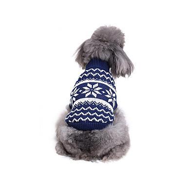 كلب البلوزات ملابس الكلاب كاجوال/يومي ندفة ثلجية كوستيوم للحيوانات الأليفة