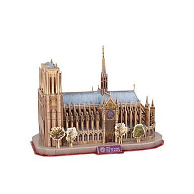 قطع تركيب3D مجموعات البناء بناء مشهور كاتدرائية نوتردام - باريس EPS+EPU للجنسين هدية