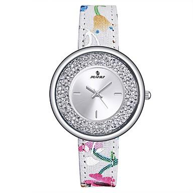 f1a2354684c Mulheres Relógio Esportivo Relógios Femininos com Cristais Japanês Quartzo  Couro Legitimo Cores Múltiplas 30 m Impermeável