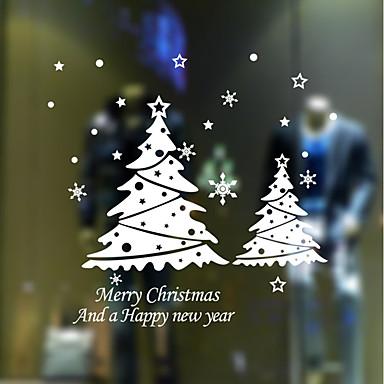 Romantic Crăciun Vacanță Perete Postituri Autocolante perete plane Autocolante de Perete Decorative, Hârtie Pagina de decorare de perete