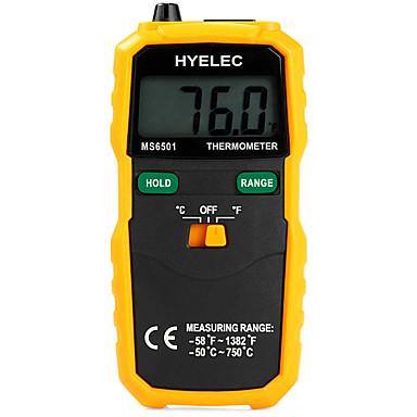 hyelec ms6501 groot LCD-scherm digitale thermometer type K thermokoppel termometro met data te houden / logging