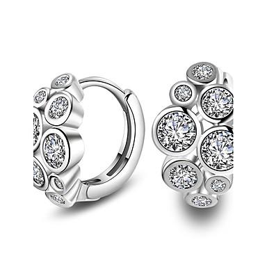 Pentru femei Cercei Stud imitație de diamant Design Basic Personalizat Cute Stil Clasic Diamante Artificiale AliajCircle Shape Flower