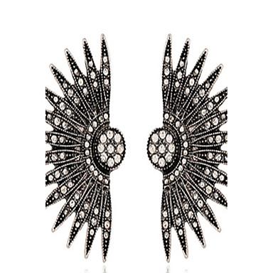 Damen Ohrring - Blume Luxus, Modisch, überdimensional Silberschwarz Für Party / Geburtstag / Bühne