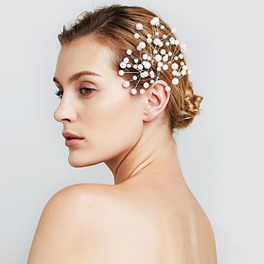 női gyöngy virág haj ékszerek hajtűk a násznép szett (6)