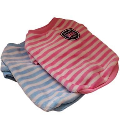 Câine Tricou Îmbrăcăminte Câini Modă Dungi Albastru Roz