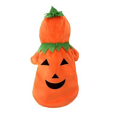 Hund Kostüme Hundekleidung Kürbis Orange Plüsch Kostüm Für Haustiere Herrn Damen Cosplay