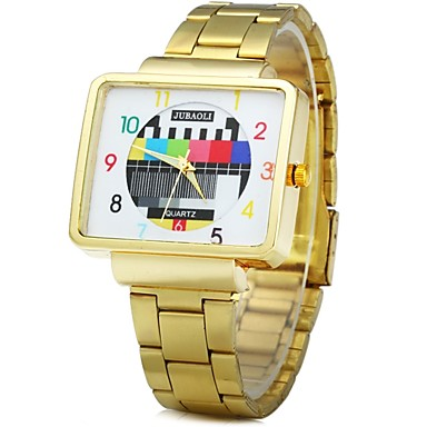 Heren Polshorloge Modieus horloge Chinees Kwarts Metaal Band Informeel Cool Zwart Wit Goud