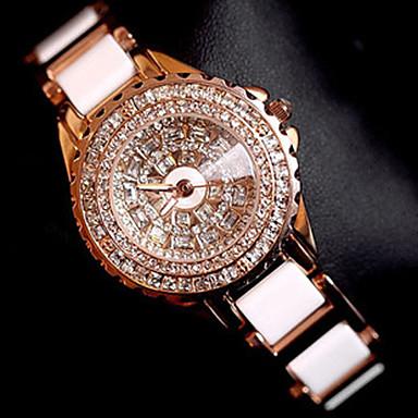 Pentru femei Quartz Ceas de Mână / Ceas Brățară Chineză Creative Oțel inoxidabil Bandă Charm / Lux / Sclipici / Punct / Casual / Elegant