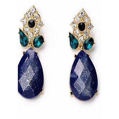 Dames Oorknopjes Bergkristal Synthetische Sapphire Gepersonaliseerde Sexy Modieus Oversized Legering Drop Sieraden Voor Feest Anders >>