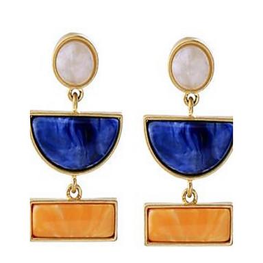 للمرأة أقراط قطرة توباز تصميم بسيط موضة عتيقة سبيكة مجوهرات مجوهرات من أجل يوميا مواعدة عطلة ذهاب للخارج