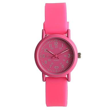 Pentru femei Quartz Ceas de Mână Japoneză / Silicon Bandă Casual Modă Roșu