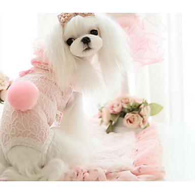 كلب هوديس ملابس الكلاب هندسي أصفر / أزرق / زهري حرير كوستيوم للحيوانات الأليفة ربيع & الصيف / صيف كاجوال / يومي