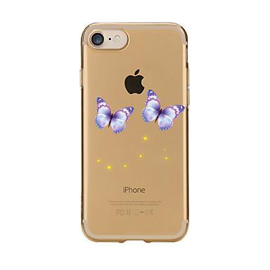 Maska Pentru Apple iPhone 7 Plus iPhone 7 Transparent Model Capac Spate Fluture Moale TPU pentru iPhone 7 Plus iPhone 7 iPhone 6s Plus