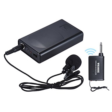 billige Audio & Video Tilbehør-Bærbar lavalier lapel krage clip-on trådløs mikrofon stemmeforsterker for forelesningskonferanse talefremmende