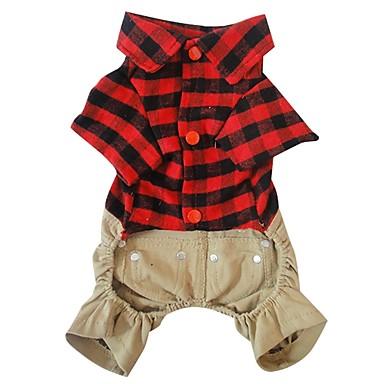 Hund Kostüme Hundekleidung Cosplay Plaid/Karomuster Rot Kostüm Für Haustiere
