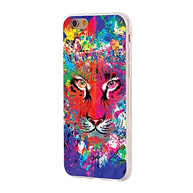 Caz pentru iphone 7 6 tiger tpu soft ultra-subțire spate cover cover case iphone 7 plus 6 6s plus se 5s 5 5c 4s 4