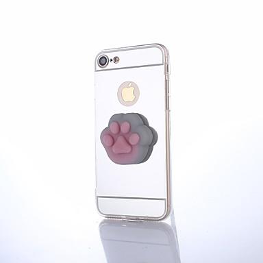 Pentru iPhone 8 Plus Carcase Huse Oglindă Reparații squishy Carcasă Spate Maska Pisica Culoare solidă Desene 3D Greu PC pentru Apple
