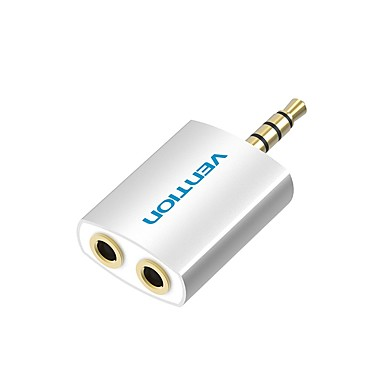 VENTION 3.5mm audio Jack Adaptor, 3.5mm audio Jack to 3.5mm audio Jack Adaptor Bărbați-Damă Placată cu aur