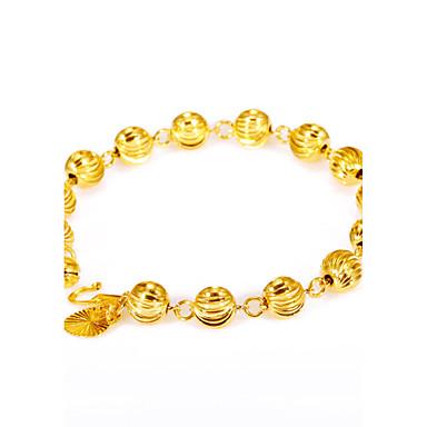 Herrn / Damen vergoldet Ketten- & Glieder-Armbänder - Personalisiert / Retro / Modisch Kreisförmig / Geometrische Form / Irregulär Gold
