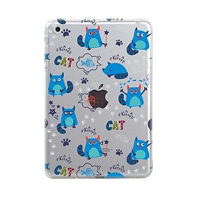 Maska Pentru Apple iPad Air 2 iPad Air iPad Mini 4 iPad Mini 3/2/1 iPad 4/3/2 Transparent Model Capac Spate Țiglă Pisica Moale TPU pentru