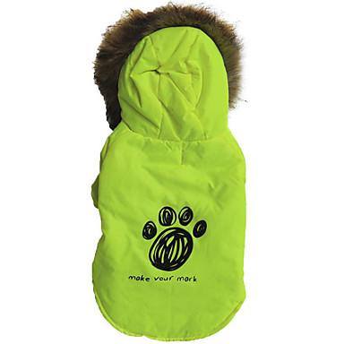 Hond Hoodies Hondenkleding Katoen Dons Bont Winter Lente/Herfst Casual/Dagelijks Dier Voor huisdieren