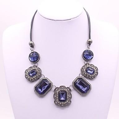 Pentru femei Pătrat Clasic Modă Coliere cu Pandativ Sapphire sintetic Aliaj Coliere cu Pandativ . Petrecere Zilnic Serată Scenă
