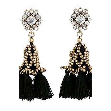 Dames Druppel oorbellen Bergkristal Gepersonaliseerde Vintage Oversized Modieus Legering Bloemvorm Sieraden Voor Feest Toneel Formeel