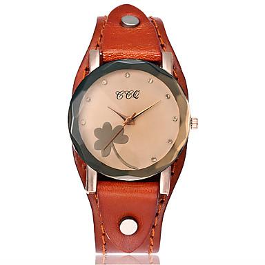 Pentru femei Simulat Diamant Ceas Unic Creative ceas Ceas de Mână Ceas Brățară Ceas La Modă Ceas Casual Chineză Quartz Piele Bandă