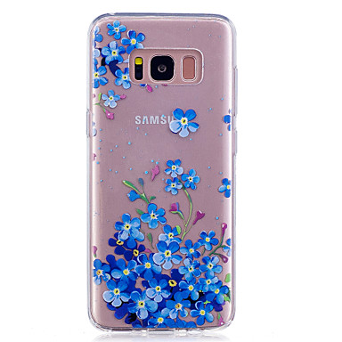 Maska Pentru Samsung Galaxy S8 Plus S8 IMD Transparent Model Capac Spate Floare Moale TPU pentru S8 Plus S8