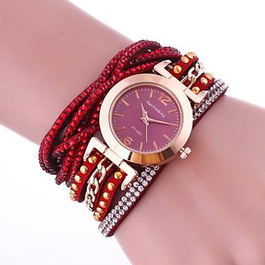 Pentru femei Ceas La Modă Ceas Brățară Unic Creative ceas Simulat Diamant Ceas Chineză Quartz imitație de diamant PU Bandă Charm Casual