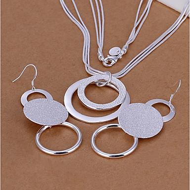 Pentru femei Argilă Set bijuterii - De Bază Circle Shape Argintiu Cercei Picătură Lănțișor Pentru Petrecere Zilnic Casual Birou și carieră