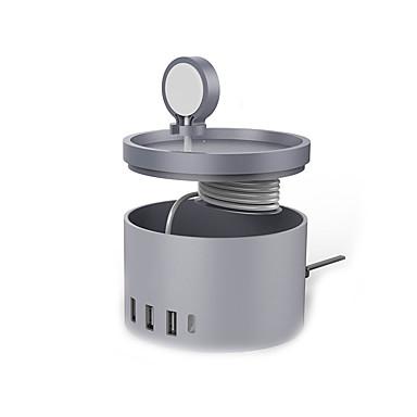 Încărcător USB 5 porturi Stație încărcător de birou Stand Dock Adaptor de încărcare