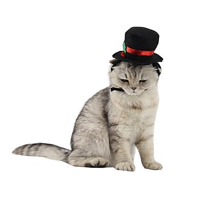Pisici Bandane & Pălării Îmbrăcăminte Câini Crăciun Geometric Negru