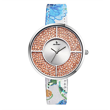 Dames Sporthorloge Modieus horloge Japans Kwarts Waterbestendig Echt leer Band Informeel Meerkleurig