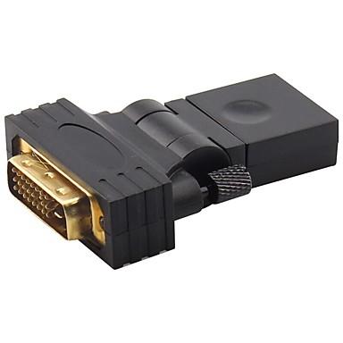 DVI Adaptor, DVI to HDMI 1.4 Adaptor Bărbați-Damă Placată cu aur