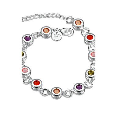 Pentru femei Fete Brățări cu Lanț & Legături Cristal Γεωμετρικά Prietenie Modă stil minimalist Cristal Argilă Rotund Geometric Shape