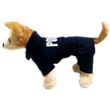 Câine Salopete Îmbrăcăminte Câini Literă & Număr Negru Material Din Fâș Costume Pentru animale de companie Casul/Zilnic