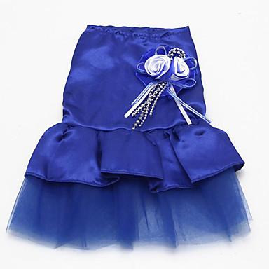 Hund Smoking Hundekleidung Prinzessin Purpur Rot Blau Rosa Polyester Kostüm Für Haustiere Sommer Herrn Damen Hochzeit