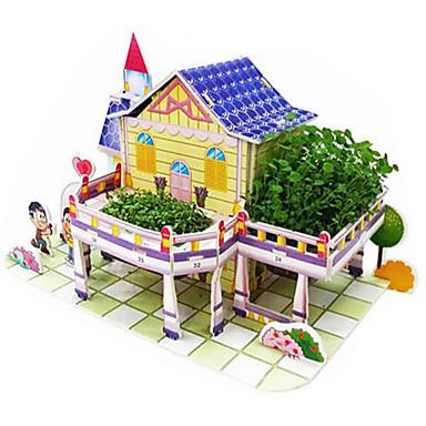 3D-puzzels Legpuzzel Speelgoedbouw Speeltjes Beroemd gebouw Huis Architectuur 3D Hout Natuurlijk Hout Unisex Stuks
