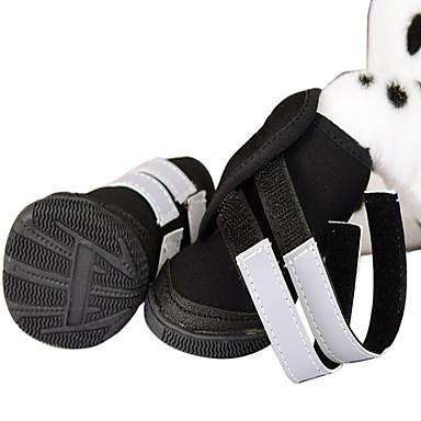 Câine Pantofi & Cizme Sport Solid Negru