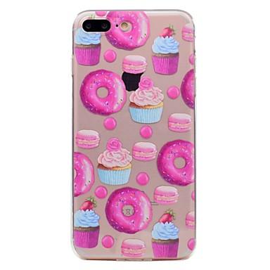 Für Apfel iphone 7 7plus Telefonkasten tpu Material Donuts Muster gemalt Telefon Fall 6s plus 6plus 6s 6 se 5s 5