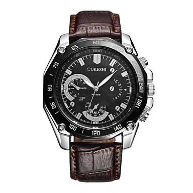 Herrn Quartz Armbanduhr Chinesisch Großes Ziffernblatt Leder Band Charme Luxus Freizeit Einzigartige kreative Uhr Kleideruhr Elegant