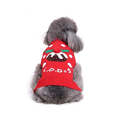 Câine Pulovere Îmbrăcăminte Câini Crăciun Bumbac Jos Costume Pentru animale de companie Bărbați Pentru femei Casul/Zilnic Crăciun