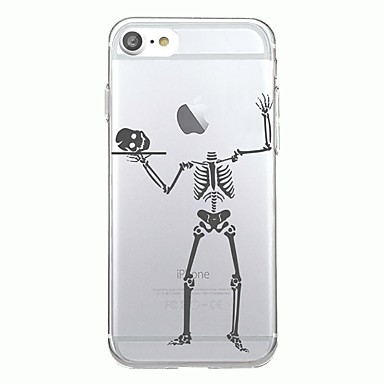Maska Pentru Apple Transparent Model Carcasă Spate Halloween Moale TPU pentru iPhone 7 Plus iPhone 7 iPhone 6s Plus iPhone 6 Plus iPhone