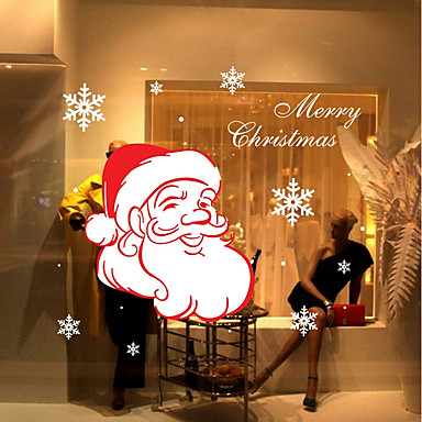 Kerstmis Romantiek Feest Muurstickers Vliegtuig Muurstickers Decoratieve Muurstickers,Papier Materiaal Huisdecoratie Muursticker